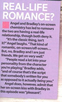 Brad and Angel off set ;) *brangel*