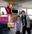Celebrating Alli's 13th Birthday at a hospital in Boston