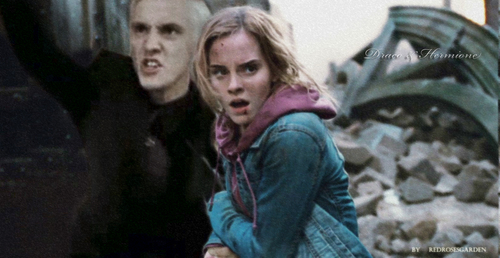 Draco and Hermione Fighting for te