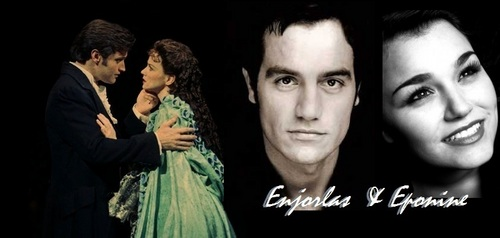 Les Miserables wolpeyper probably with a portrait entitled E&E