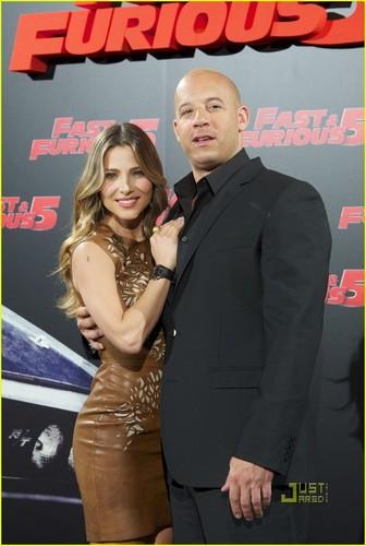 Elsa Pataky & Vin Diesel: 'Fast Five' Madrid фото Call!