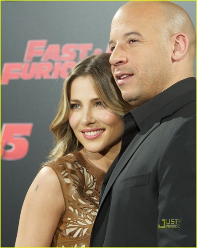 Elsa Pataky & Vin Diesel: 'Fast Five' Madrid Photo Call!