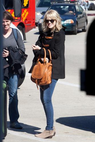 Emma Stone at LAX