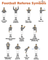 Football Referee Symbols