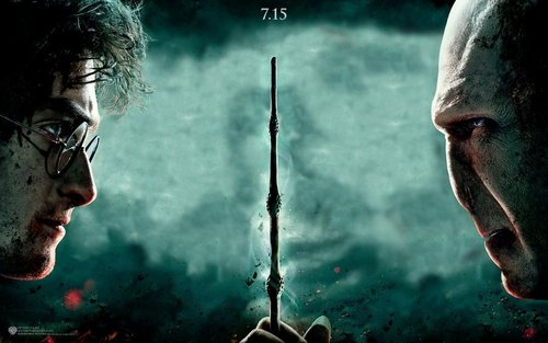 HP7.2 achtergrond Harry and Voldemort
