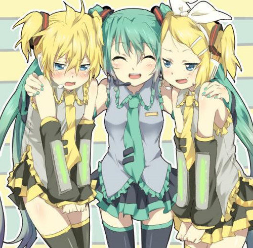 Rin und Len Kagamine Hintergrund containing Anime called Hoow Cuutee