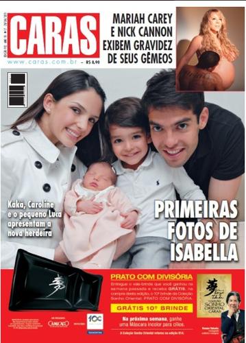 Kaka,Carol,Luca and Isabella in magazine