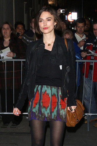 Keira Knightley Leaves the Comedy Theatre