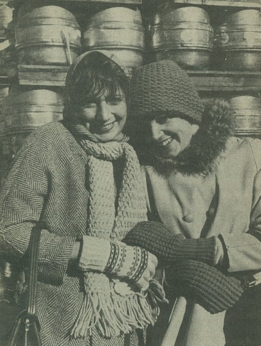 Laverne & Shirley winter clothes
