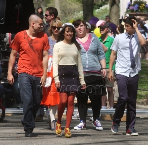 Lea & Mark on set in NYC - rachel-and-puck Photo