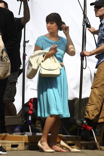 Lea Michele in Central Park