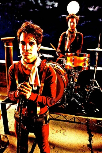 Brendon Urie wallpaper probably with a concert and a drummer titled Making Of Music Videos > Ready To Go (Get Me Out Of My Mind)