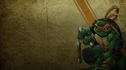 Michelangelo: Widescreen - ninja-turtles Wallpaper