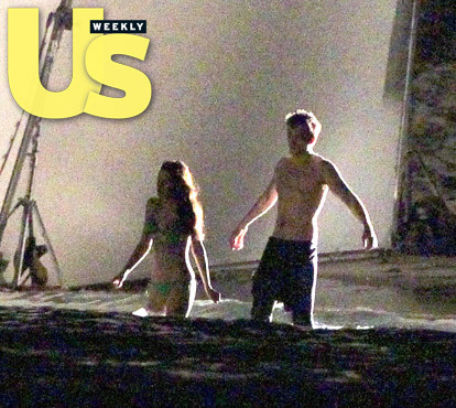 और pics of Rob and Kristen filming april 22nd