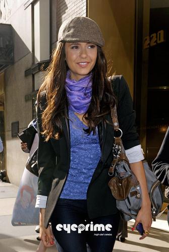 Nina Dobrev leaves the CW Studios in New York, Apr 27