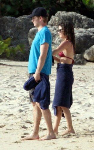 Rachel & Hayden out in Barbados