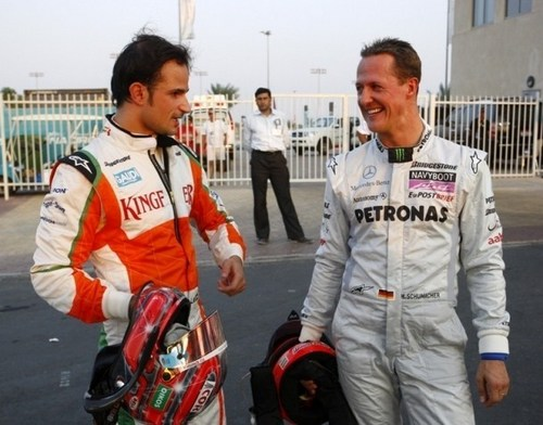 Michael Schumacher wallpaper called Schumi & Liuzzi