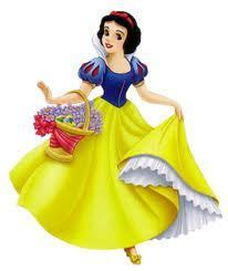 Snow white with basket