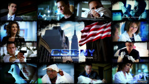 CSI - Scena del crimine ny cast fan art