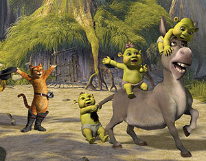 Shrek Images Donkeypuss In Boots And Baby Ogres Wallpaper Background Photos