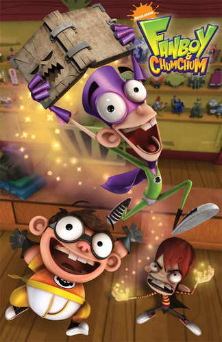 Fanboy ''N'' Chum Chum वॉलपेपर possibly with ऐनीमे titled fanboy and chum chum