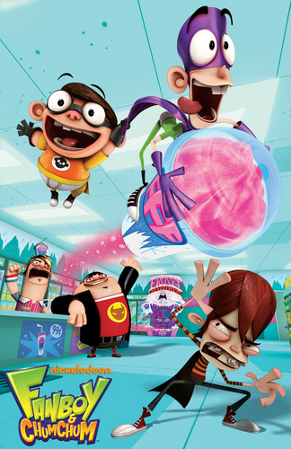 Fanboy ''N'' Chum Chum দেওয়ালপত্র probably containing জীবন্ত entitled fanboy,kyle,oz,boog and chum chum