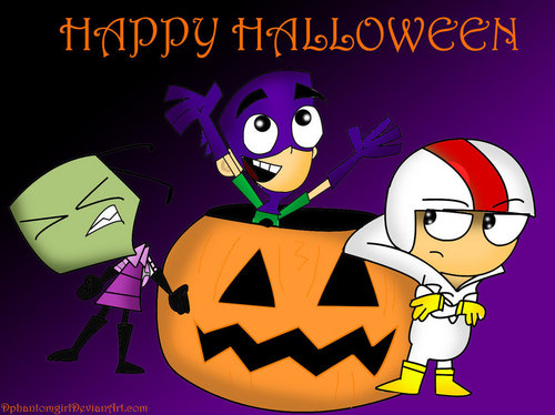 Fanboy ''N'' Chum Chum پیپر وال probably with عملی حکمت entitled halloween