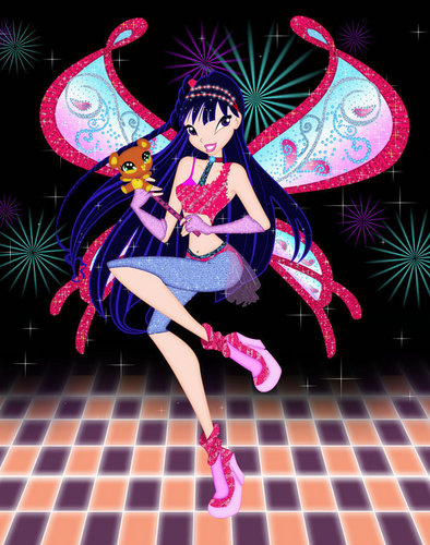 Musa from WINX wallpaper probably containing a bonnet called musa believix