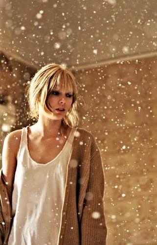 """""""Back to December"""" music video stills"""