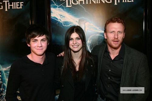 'Percy Jackson & The Olympians' Sunset Strip Lightning Billboard - October 28, 2009 - percy-jackson-and-annabeth-chase Photo