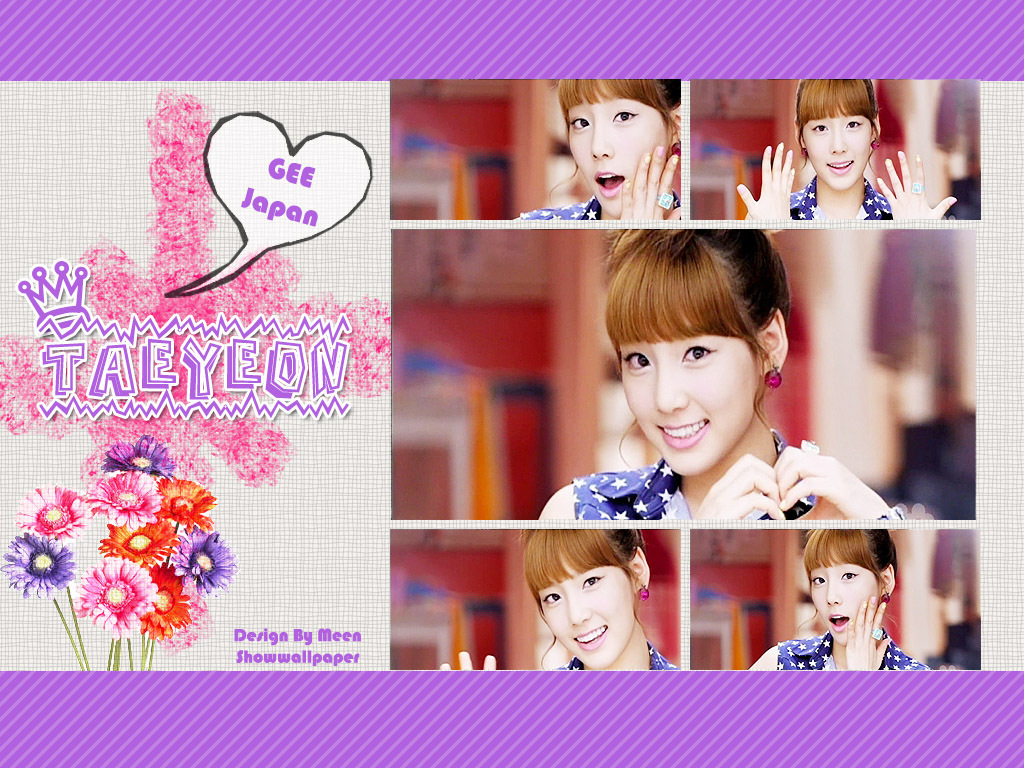 taeyeon gee japanese ver   kpop girl power wallpaper