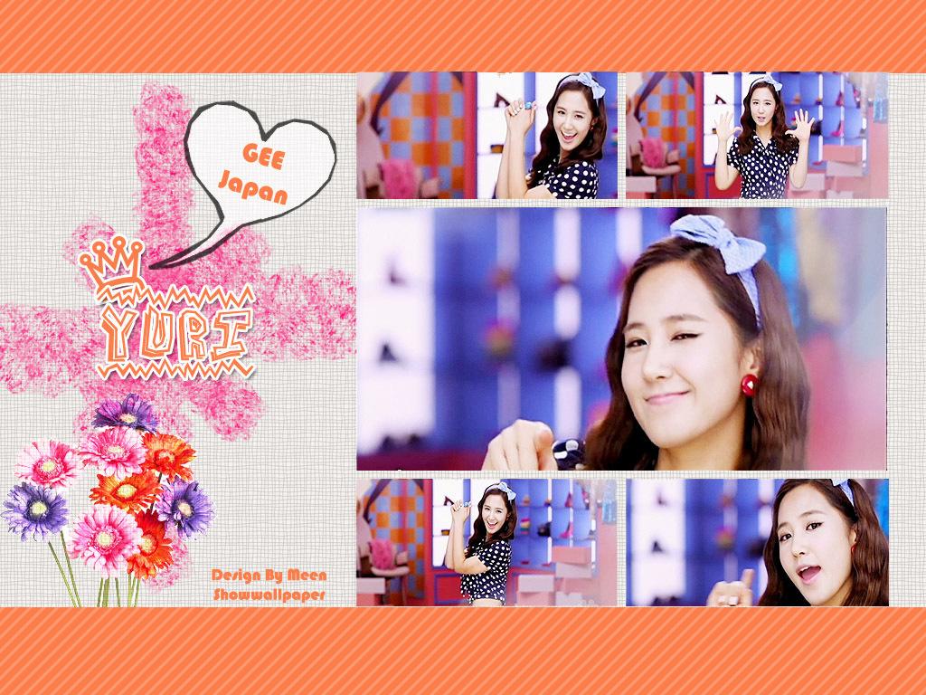 yuri gee japanese ver   kpop girl power wallpaper