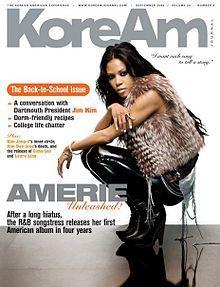 Amerie on Cover of KoreAm September 2009