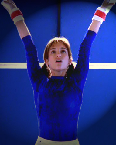 Amy Jo Johnson achtergrond probably with a gymnast, turner called Amy Jo Johnson Andie Bradley