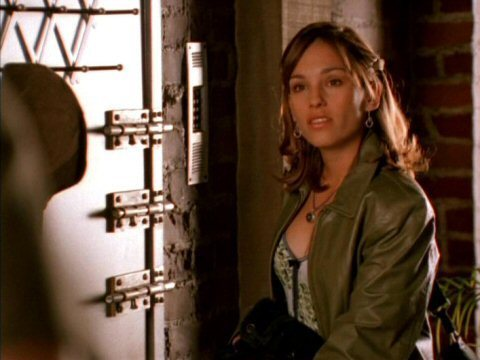 Amy Jo Johnson wallpaper possibly with a well dressed person, a street, and an outerwear entitled Amy Jo Johnson Julie Emrick
