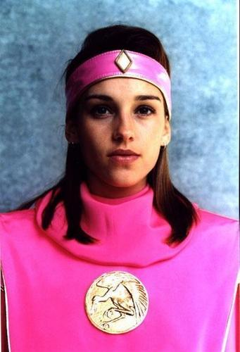 Amy Jo Johnson wallpaper containing a jersey entitled Amy Jo Johnson Kimberly