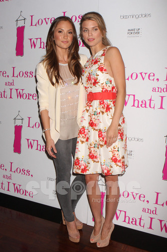 AnnaLynne and Minka at Love, Loss, and What I Wore Cast Member Party in NY, Apr 28