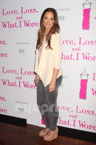 minka kelly fondo de pantalla with a well dressed person and a hip boot called AnnaLynne and Minka at Love, Loss, and What I Wore Cast Member Party in NY, Apr 28
