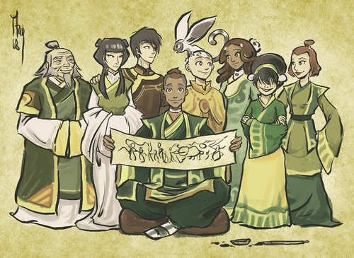 Avatar: The Last Airbender achtergrond with anime entitled Avatar Team