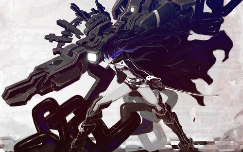 Black★Rock Shooter 壁纸 probably with a rifleman, a navy seal, and 日本动漫 titled BRS