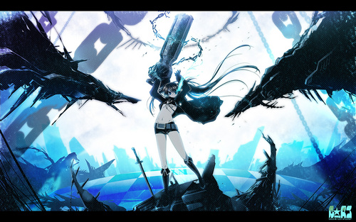 Black★Rock Shooter wolpeyper titled BRS