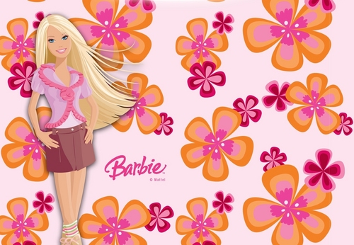 Barbie پھول پیپر وال