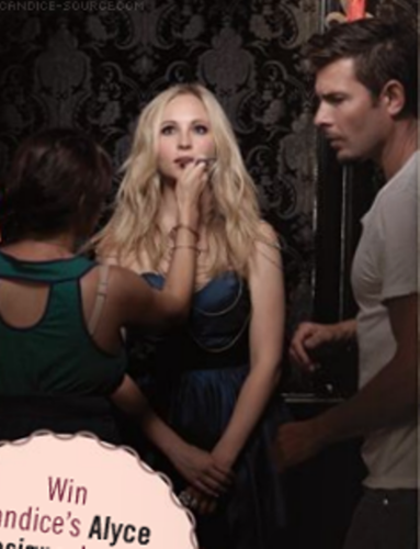 Candice BTS of her 2010 Savvy photoshoot!
