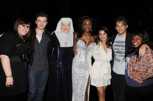 """Cast of """"Glee"""" Visits """"Sister Act"""" On Broadway"""
