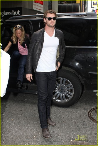 Chris Hemsworth Thunders Into New York City