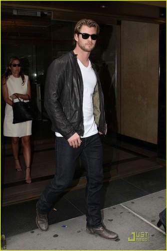 Chris Hemsworth Thunders Into New York City