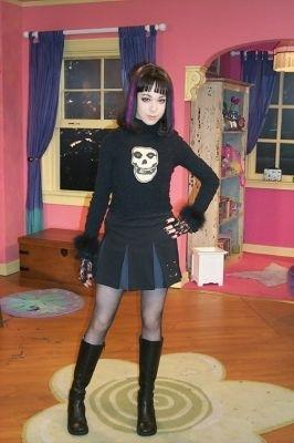 Claudia as a cheerleader