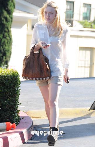 Dakota Fanning shops at BCBG Max Azria in West Hollywood, Apr 27