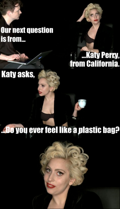 gaga do you ever feel like a plastic bag lady gaga photo 21560488 fanpop. Black Bedroom Furniture Sets. Home Design Ideas
