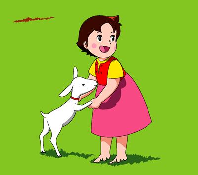 Heidi with little cisne